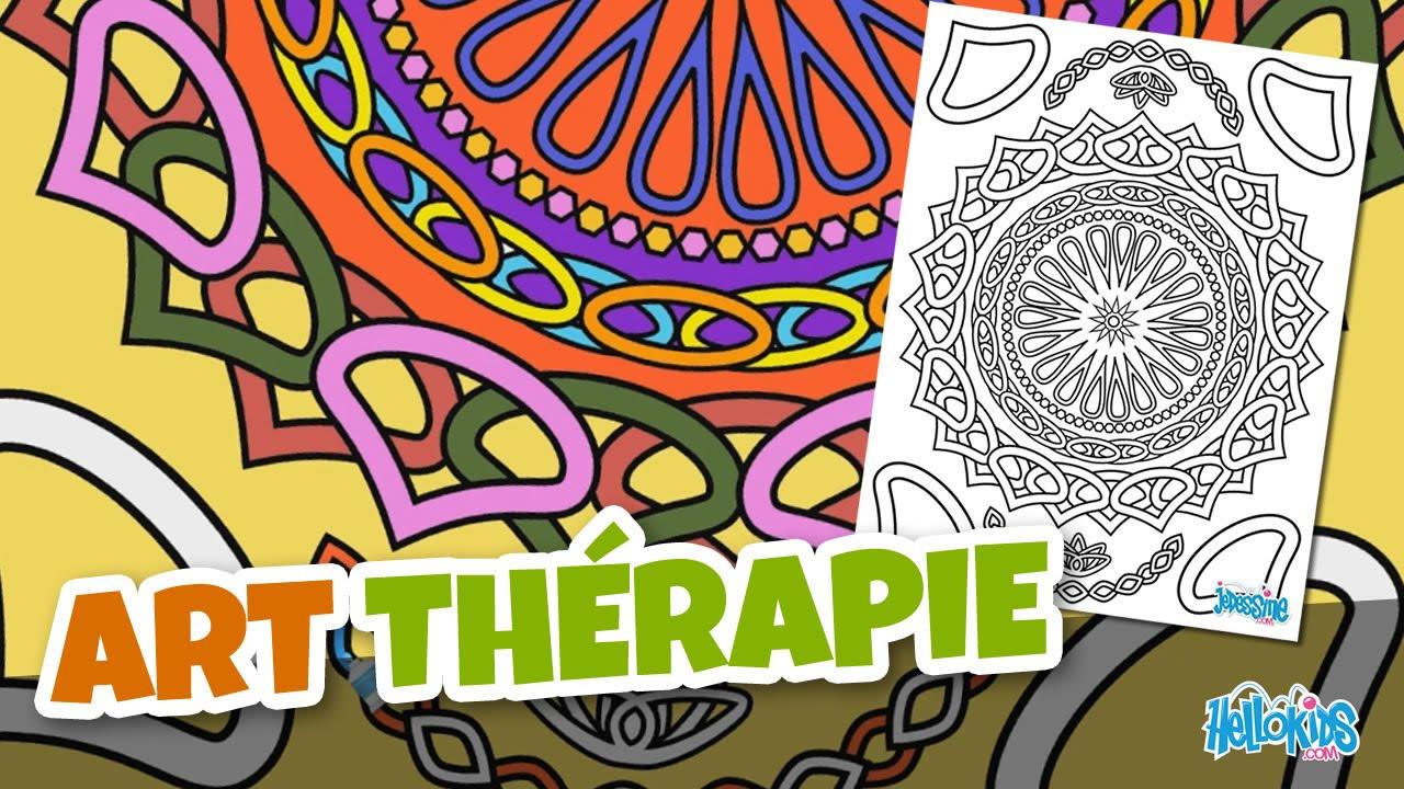 Coloriage Pour Adulte : Art Thérapie (Hellokids) - avec Coloriage Art Thérapie