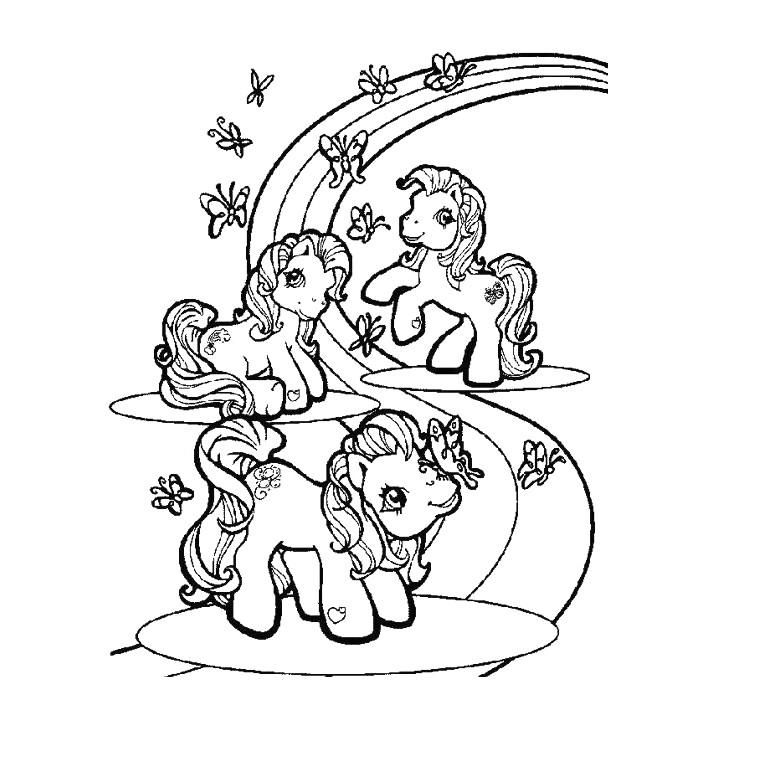 Coloriage Pour Enfant Licorne Avec Unicorn008 Et Dessin dedans Arc En Ciel A Colorier