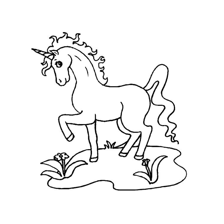 Coloriage Pour Enfant Licorne Avec Unicorn008 Et Dessin intérieur Photo De Chevaux A Imprimer Gratuitement