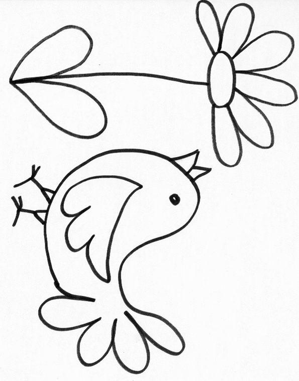 Coloriage Pour Enfant Oiseau encequiconcerne Coloriage Poussin A Imprimer Gratuit