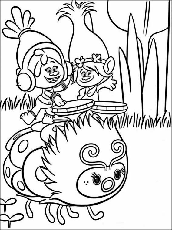 Coloriage Pour Enfants Les Trolls 7 serapportantà Dessin De Troll