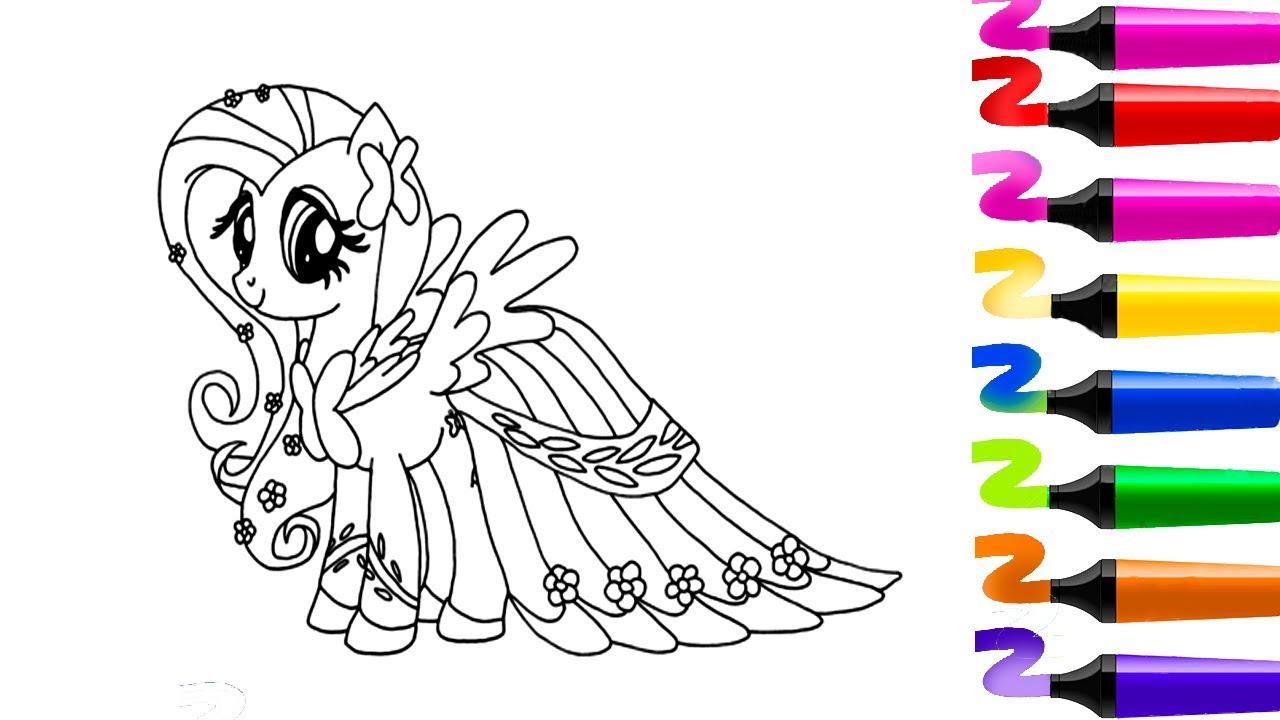 Coloriage Pour Enfants! My Little Pony Livre À Colorier dedans Coloriage Facile À Imprimer