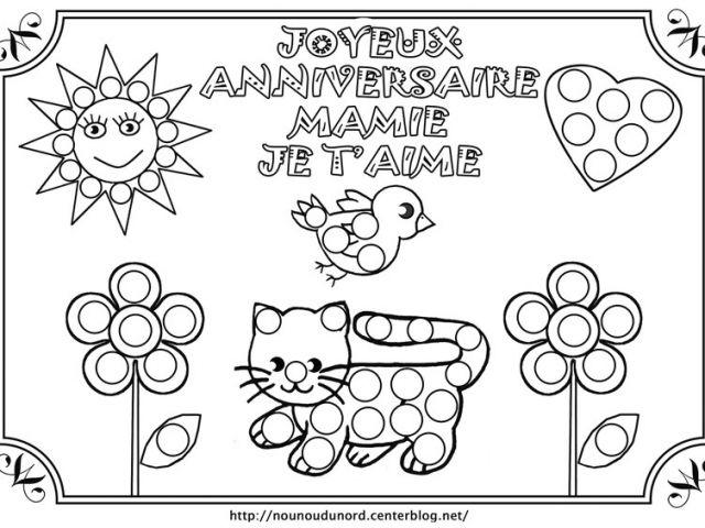Coloriage Pour Garçon De 7 Ans Anniversaire Mamie avec Coloriage Anniversaire 7 Ans