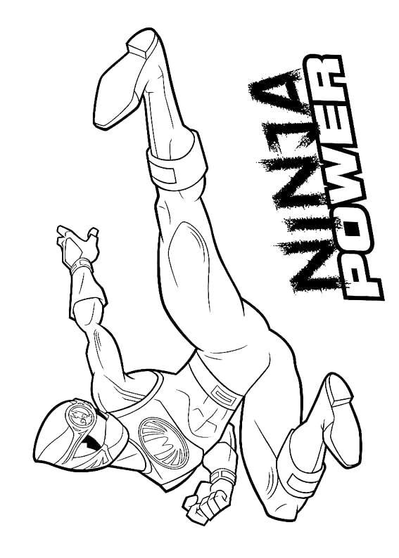Coloriage Power Rangers Ninja Power Dessin Gratuit À Imprimer avec Coloriage Power Rangers Ninja Steel A Imprimer