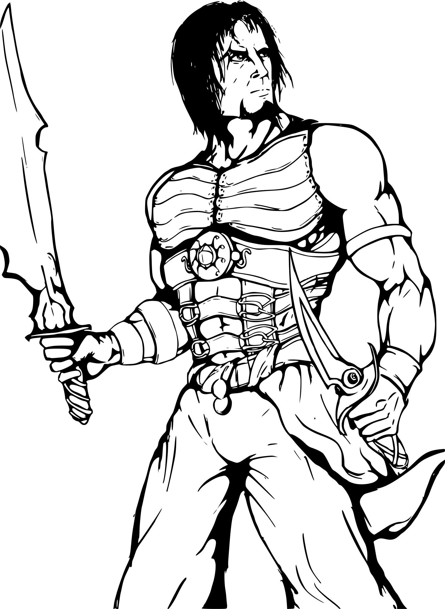Coloriage Prince Of Persia À Imprimer Sur Coloriages tout Image De Dessin Animé A Colorier