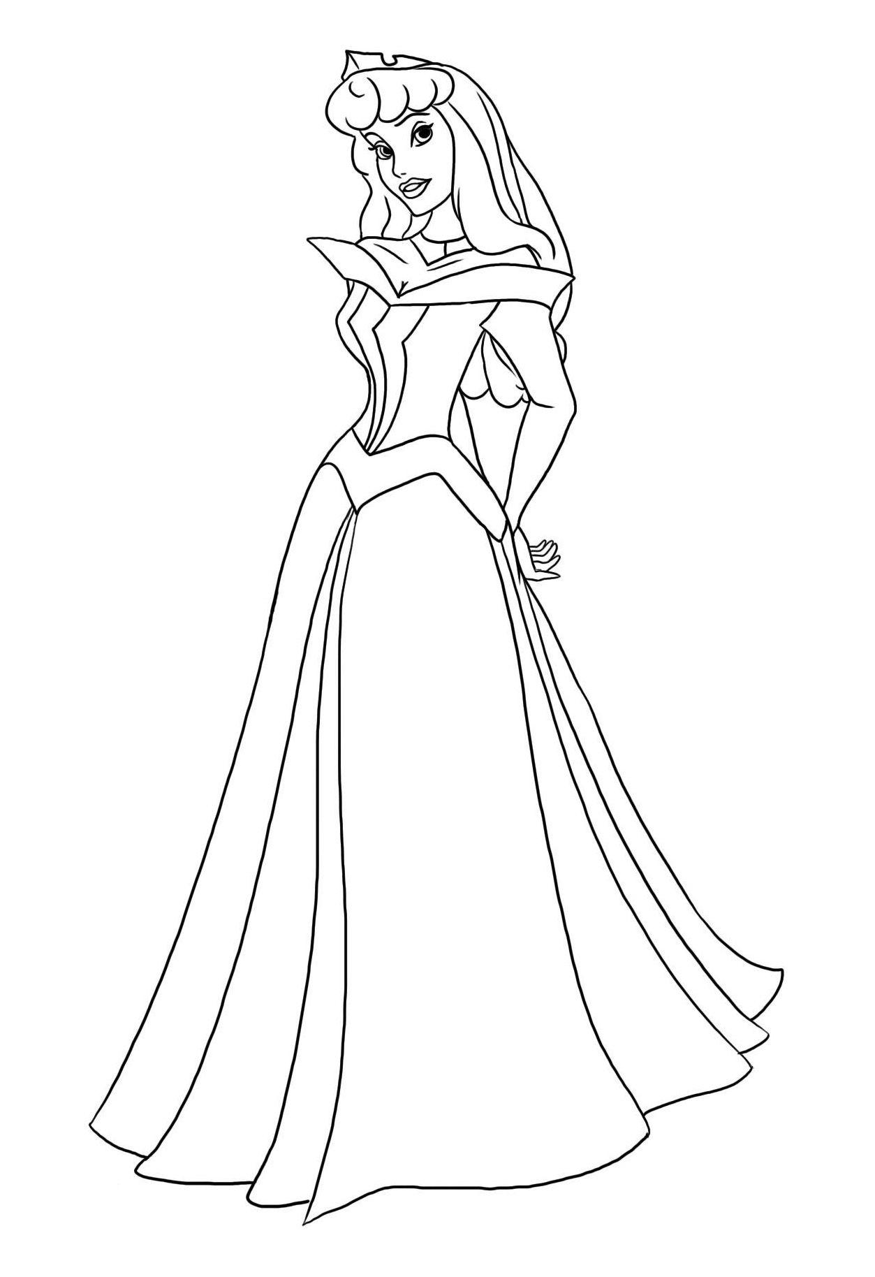 Coloriage Princesse À Colorier - Dessin À Imprimer encequiconcerne Coloriage Princesse Disney