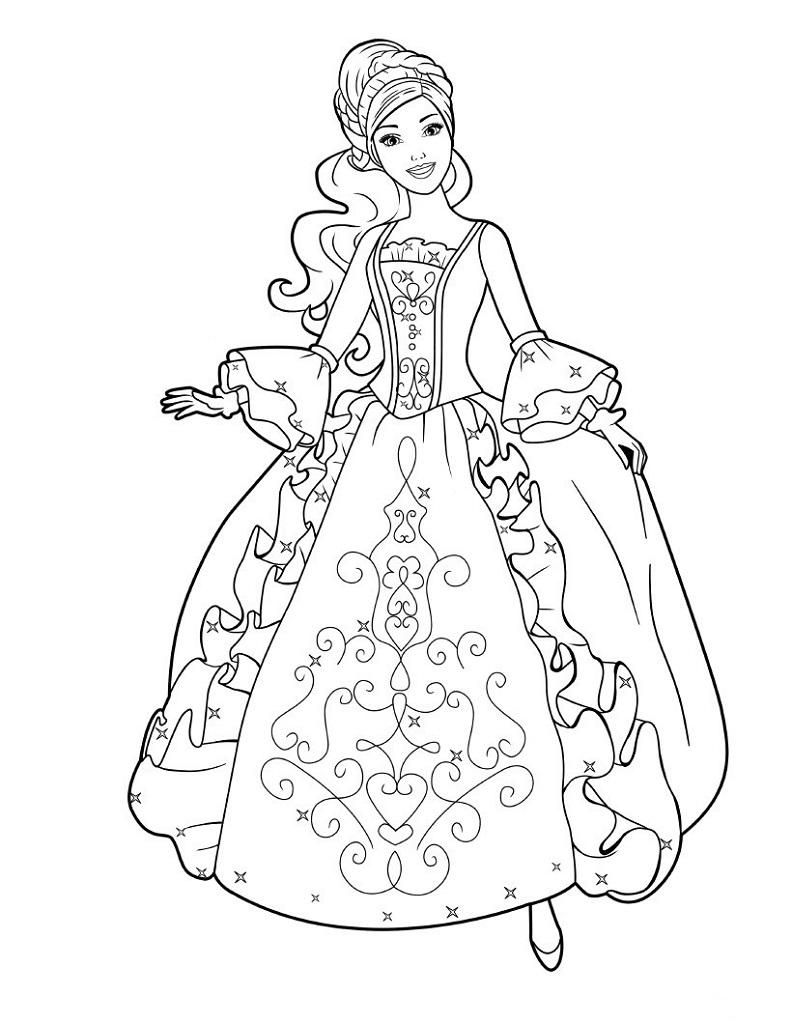 Coloriage Princesse À Imprimer (Disney, Reine Des Neiges, ) à Coloriage Princesse