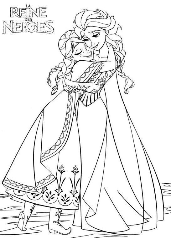 Coloriage Princesse Anna À Colorier - Dessin À Imprimer dedans Coloriage A Imprimer Licorne Et Princesse