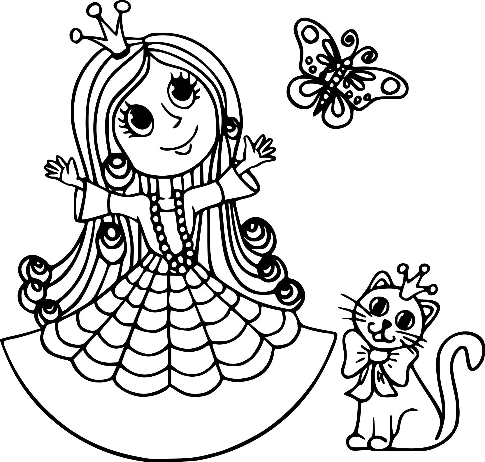 Coloriage Princesse Avec Chat À Imprimer Sur Coloriages pour Coloriage Magique De Chat