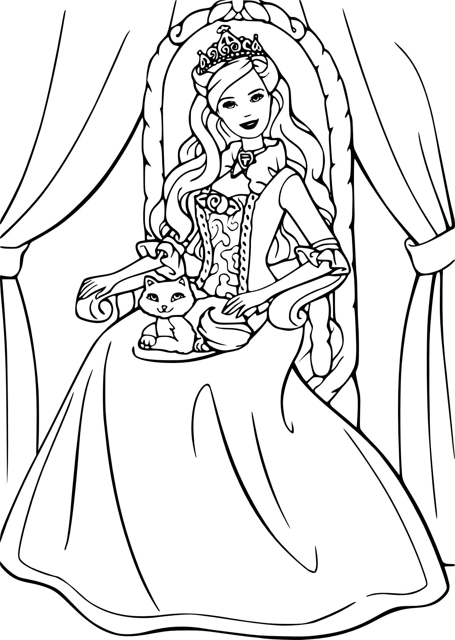 Coloriage Princesse Barbie À Imprimer Et Colorier encequiconcerne Coloriage Princesse