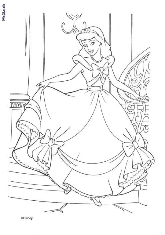 Coloriage Princesse Cendrillon Gratuit À Imprimer Liste 40 intérieur Dessin Cendrillon A Imprimer Gratuit
