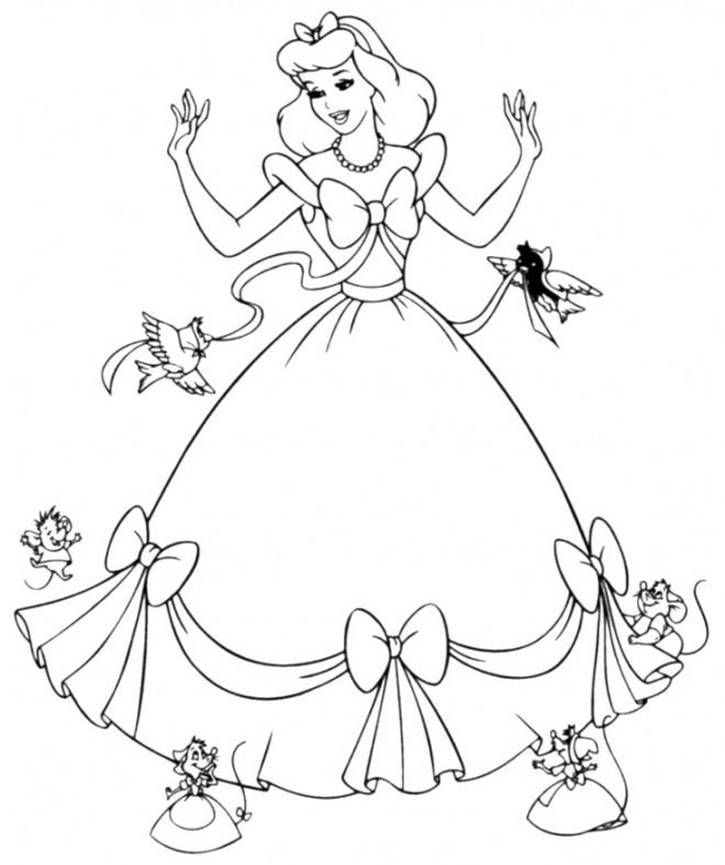 Coloriage Princesse Cendrillon Magique Dessin Gratuit À concernant Dessin Cendrillon A Imprimer Gratuit
