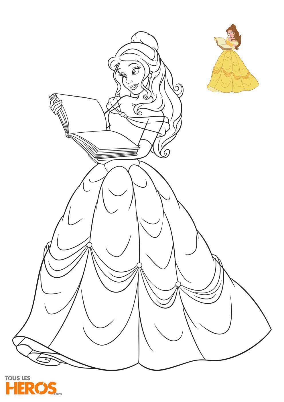 Coloriage Princesse Disney À Imprimer En Ligne | Coloriage avec Coloriages Princesse Disney