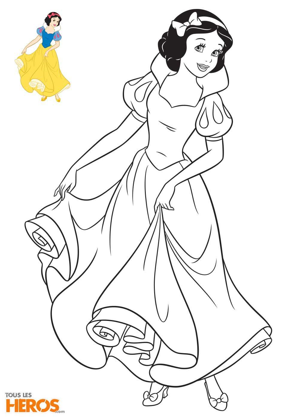 Coloriage Princesse Disney À Imprimer En Ligne | Coloriage encequiconcerne Coloriages Princesse Disney