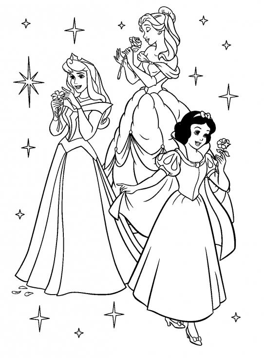 Coloriage Princesse Disney - Colorier Les Collections D'Images intérieur Coloriages Princesse Disney