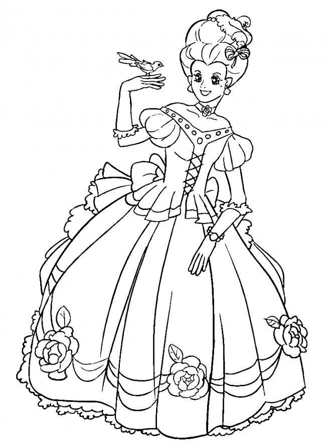 Coloriage Princesse Facile Dessin Gratuit À Imprimer destiné Coloriage Pour Fille