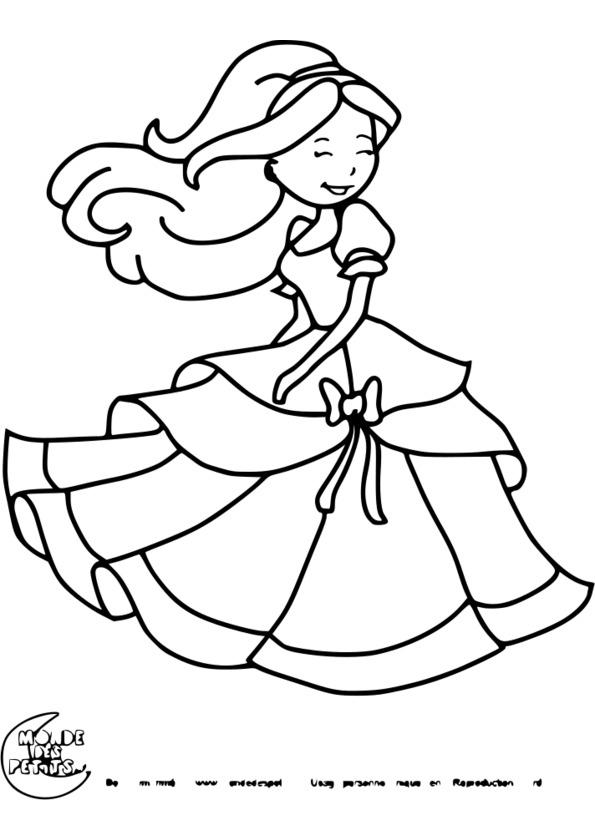 Coloriage Princesse Format A4 à Coloriage A4 À Imprimer