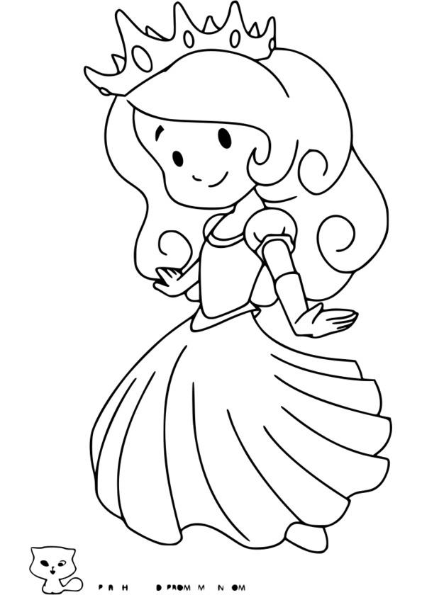 Coloriage Princesse - Image Et Dessins - Arts Et Voyages encequiconcerne Princesse À Colorier Et Imprimer