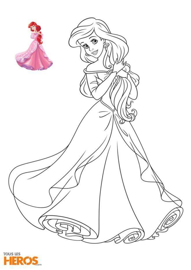 Coloriage Princesse La Petite Sirene Best Coloriage New avec Dessin Ariel La Petite Sirene A Imprimer