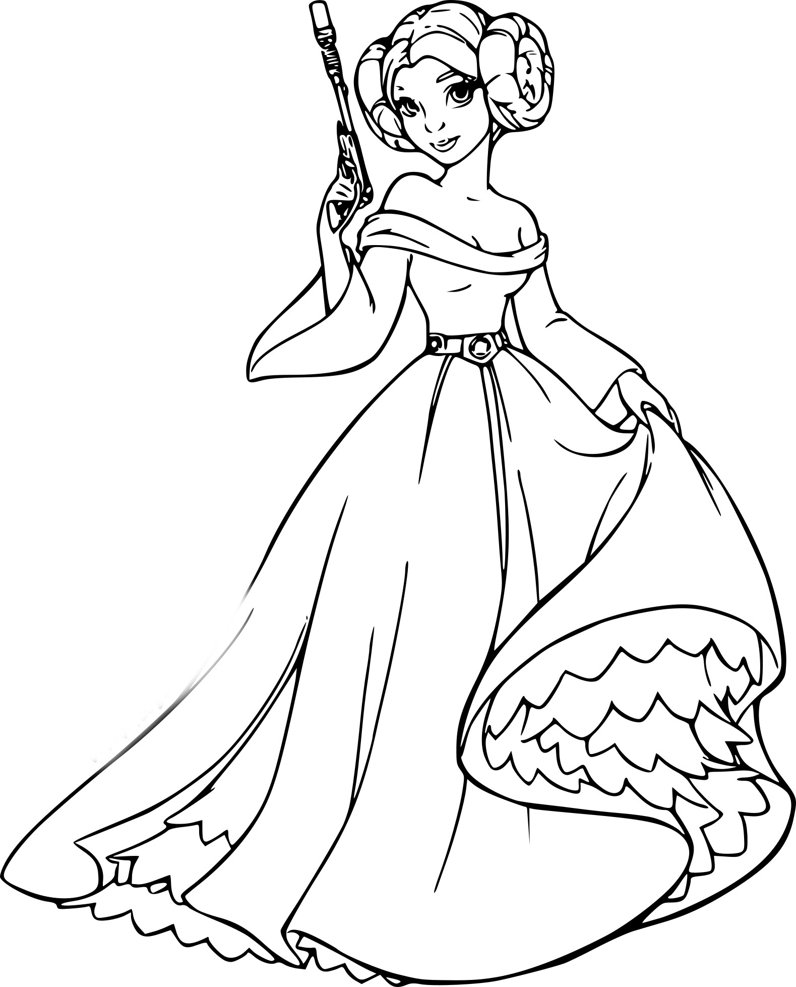 Coloriage Princesse Leia | My Blog pour Star Wars Dessin A Colorier