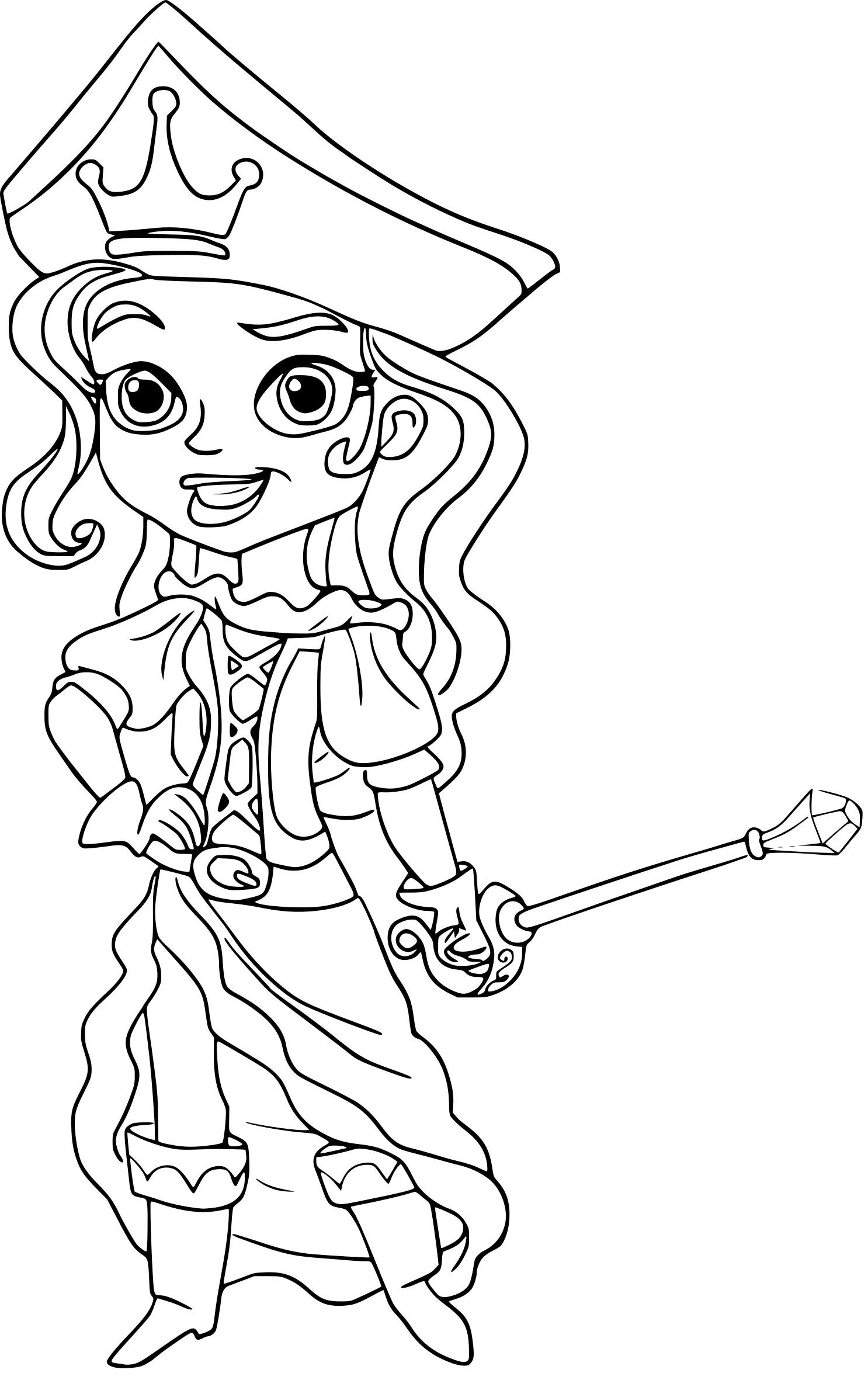 Coloriage Princesse Pirate À Imprimer serapportantà Dessin De Princesse À Colorier