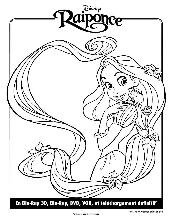 Coloriage Princesse Raiponce À Imprimer serapportantà Dessin Princesse Raiponce