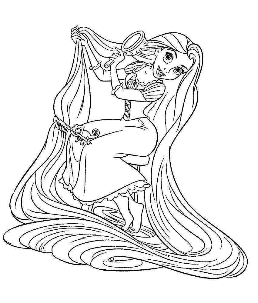 Coloriage Princesse Raiponce Disney À Imprimer Et Colorier concernant Dessin À Imprimer Princesse Disney