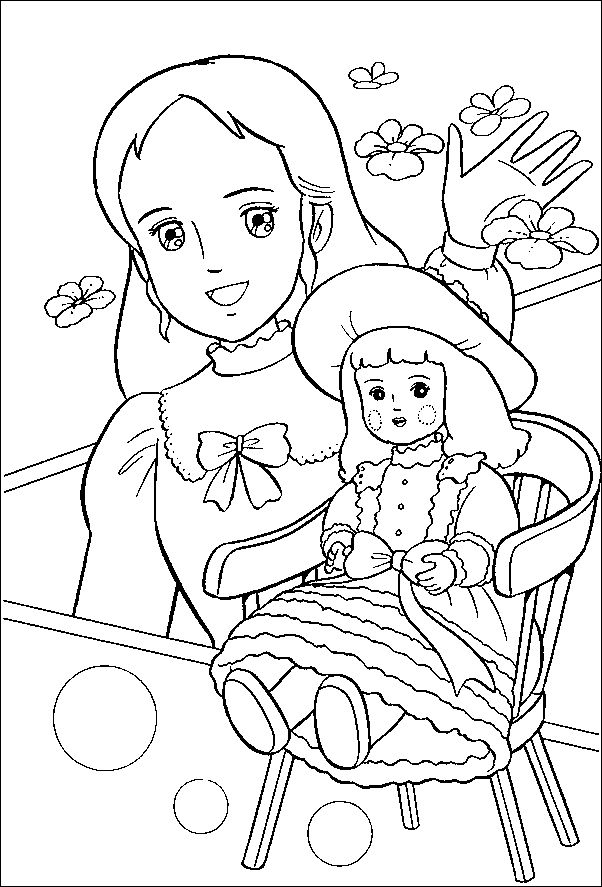 Coloriage Princesse Sarah À Colorier - Dessin À Imprimer serapportantà Dessin Animé Princesse Sarah