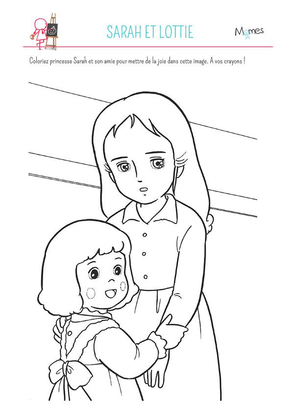 Coloriage Princesse Sarah Et Lottie - Momes dedans Dessin Animé Princesse Sarah