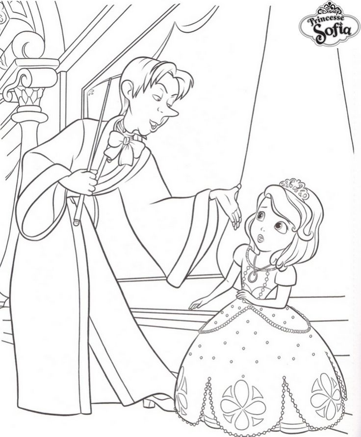 Coloriage Princesse Sofia Et Cedric | Coloriage À Imprimer concernant Coloriage Princesse Sofia