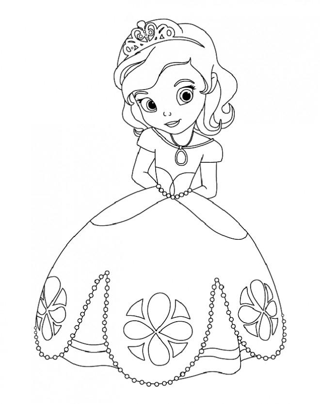 Coloriage Princesse Sofia Facile Dessin Gratuit À Imprimer dedans Coloriage De Princesse À Imprimer Gratuit