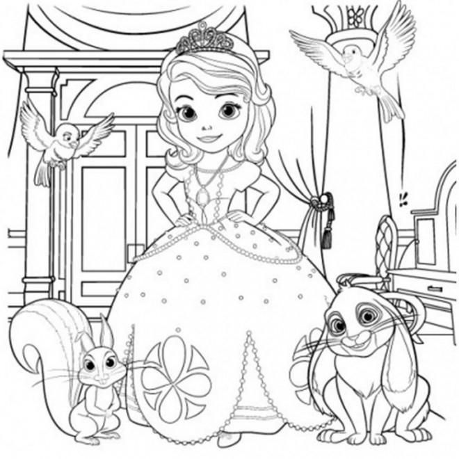 Coloriage Princesse Sofia Gratuit À Imprimer intérieur Coloriage Princesse Sofia