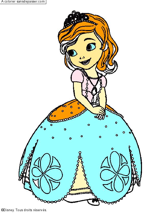 Coloriage Princesse Sofia - Sans Dépasser concernant Coloriage En Ligne Princesse Sofia