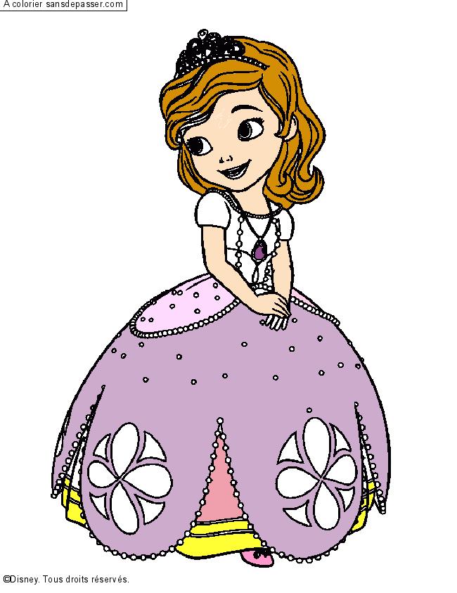 Coloriage Princesse Sofia - Sans Dépasser destiné Coloriage En Ligne Princesse Sofia