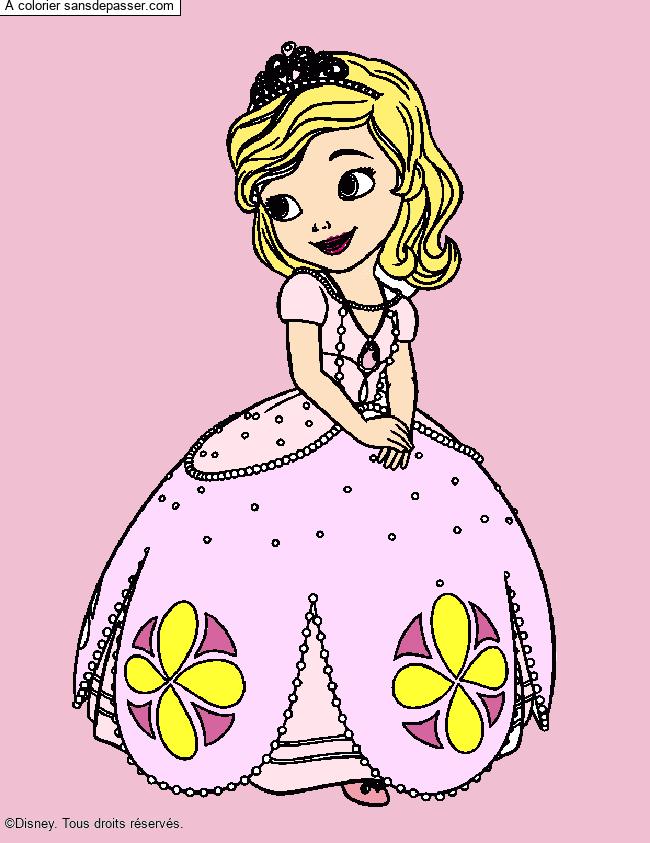 Coloriage Princesse Sofia - Sans Dépasser pour Coloriage En Ligne Princesse Sofia