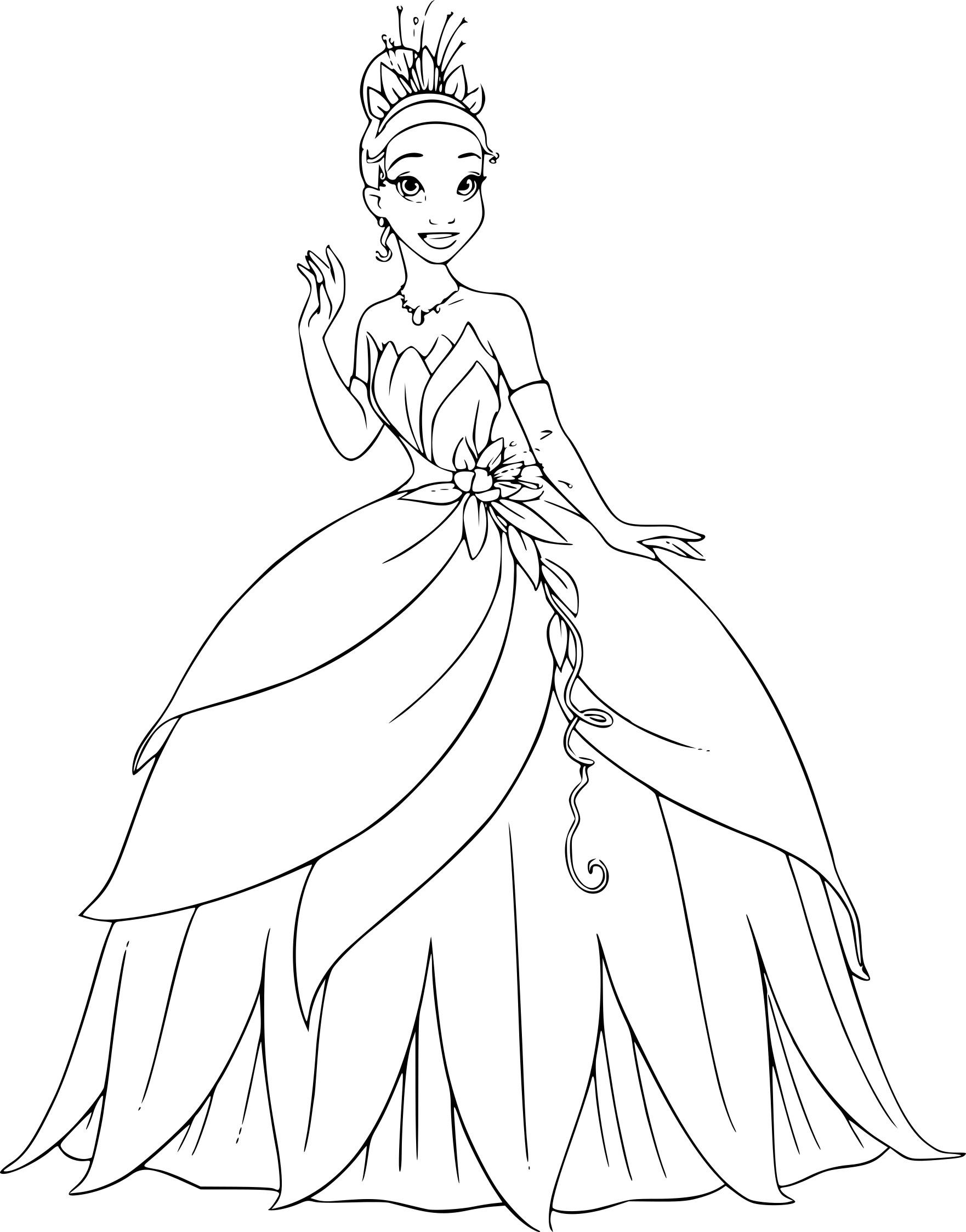 Coloriage Princesse Tiana À Imprimer encequiconcerne Coloriages Princesse Disney