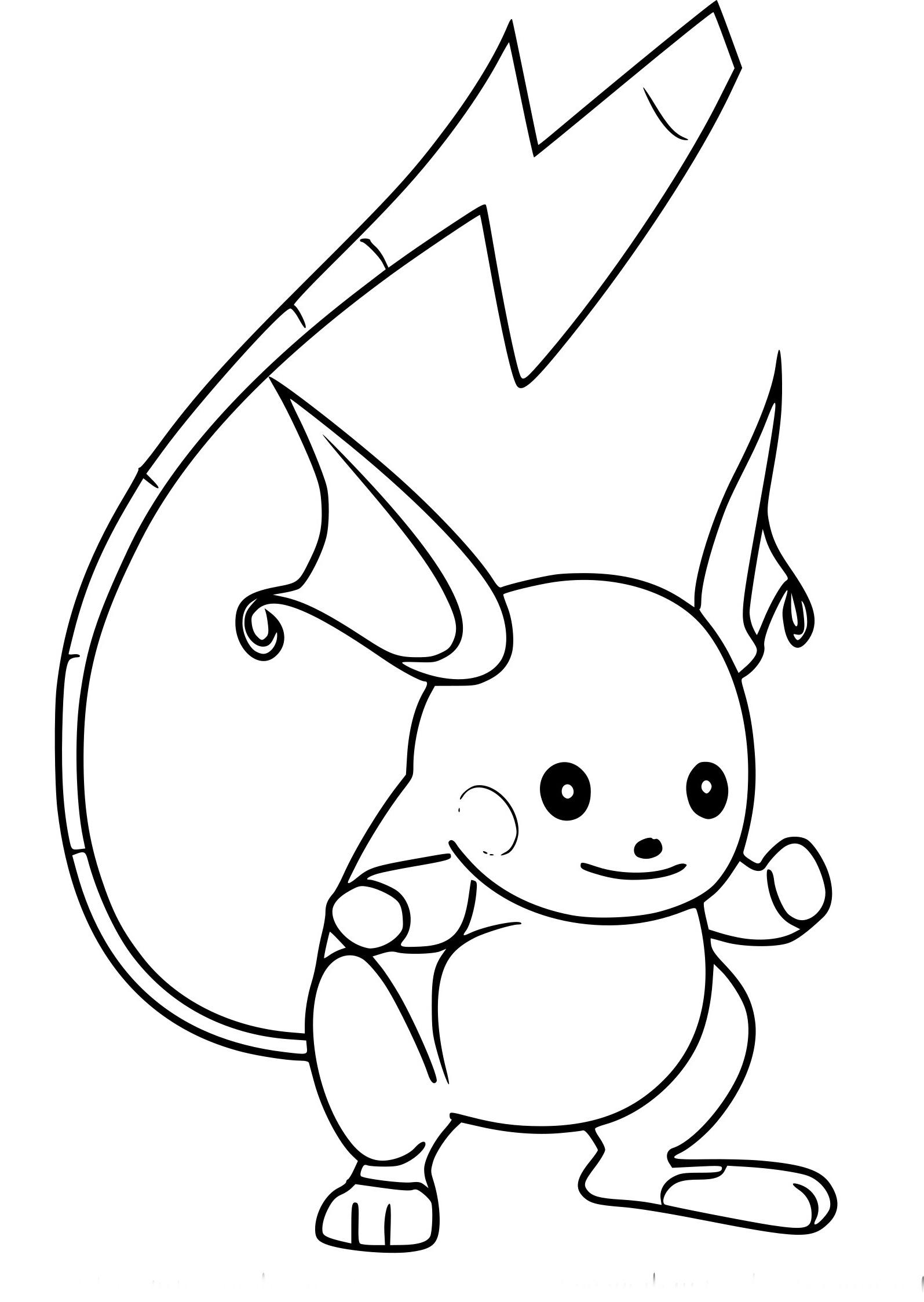 Coloriage Raichu Beau Stock Coloriage Raichu Pokemon Go À avec Coloriage Pokemon Raichu