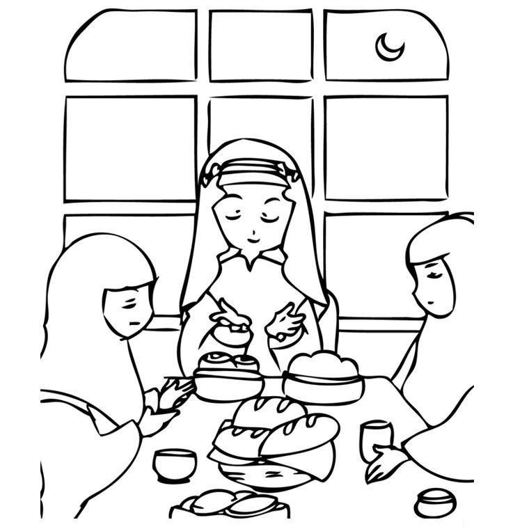 Coloriage Ramadan - Color serapportantà Coloriage Ramadan Imprimer