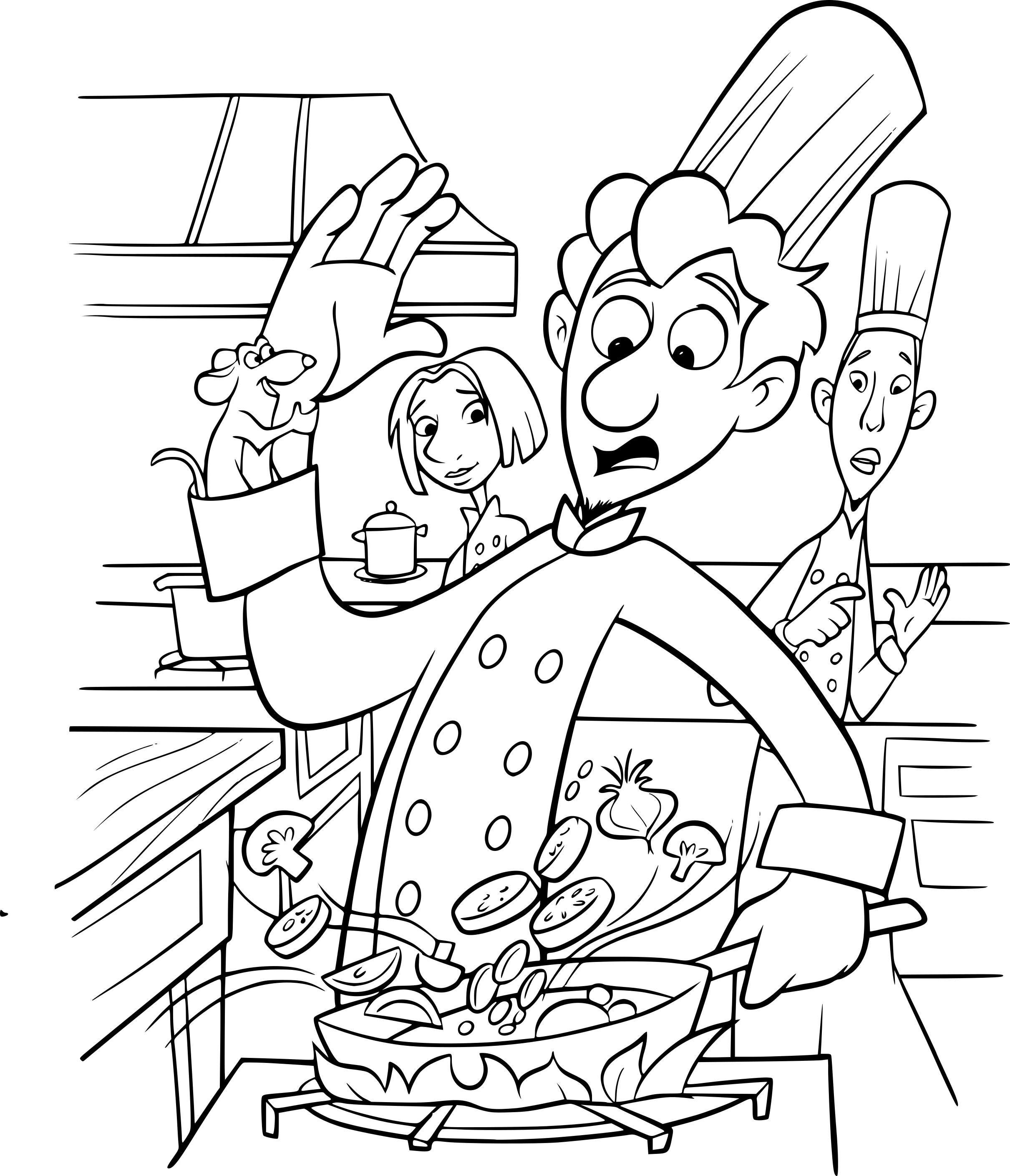 Coloriage Rauille Disney Dessin À Imprimer Sur destiné Coloriage Ratatouille