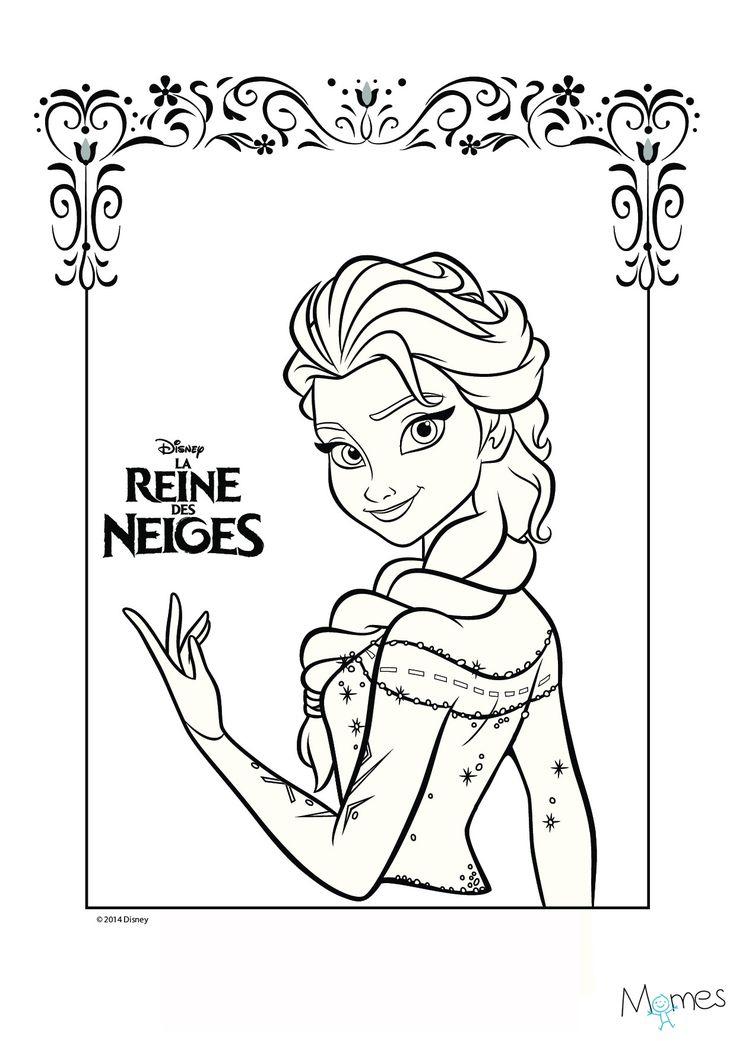 Coloriage Reine Des Neiges : Portrait D'Elsa | Coloriage pour Coloriage À Imprimer Gratuit Reine Des Neiges