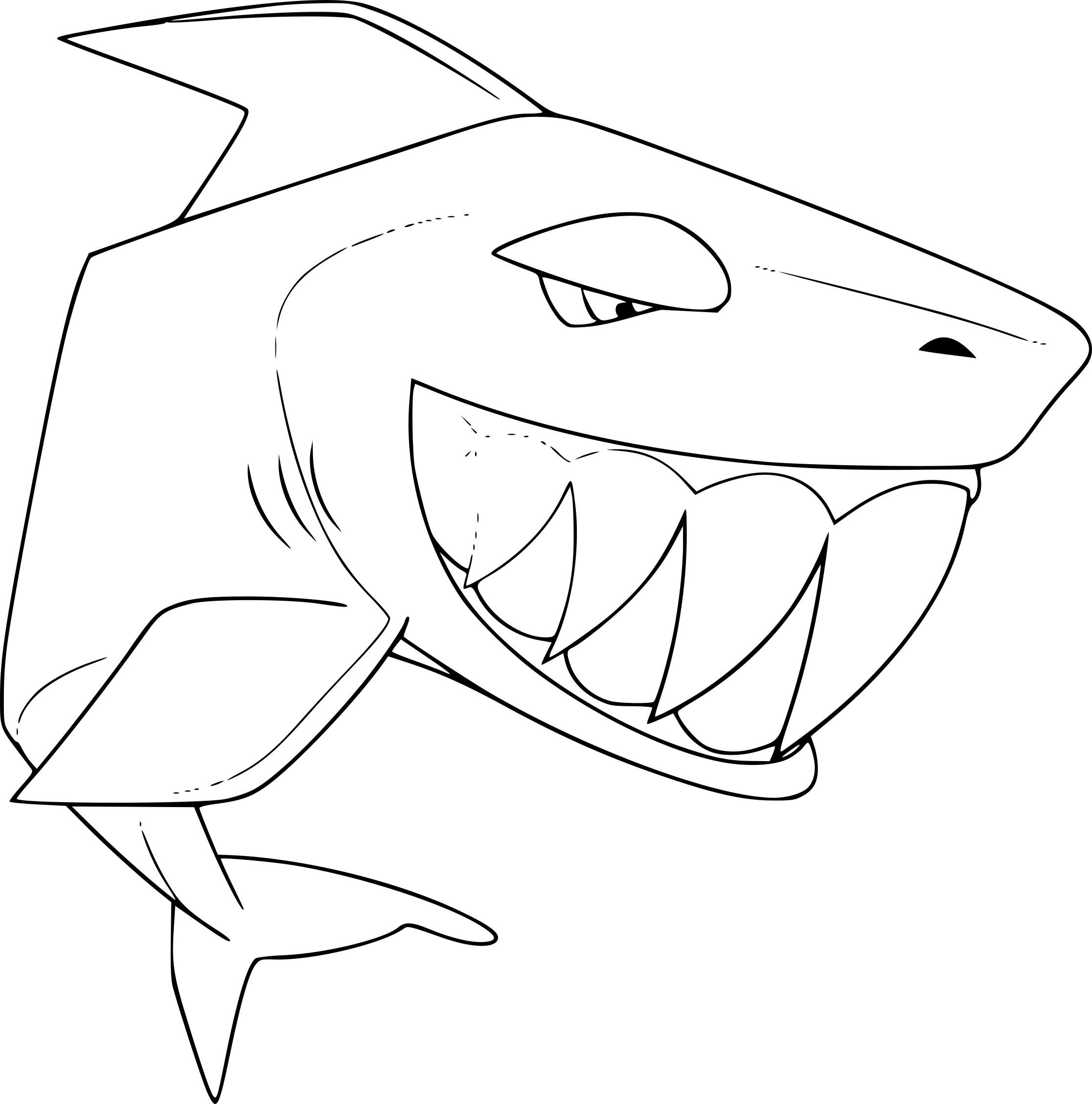 Coloriage Requin Animal Jam À Imprimer avec Coloriage Requin