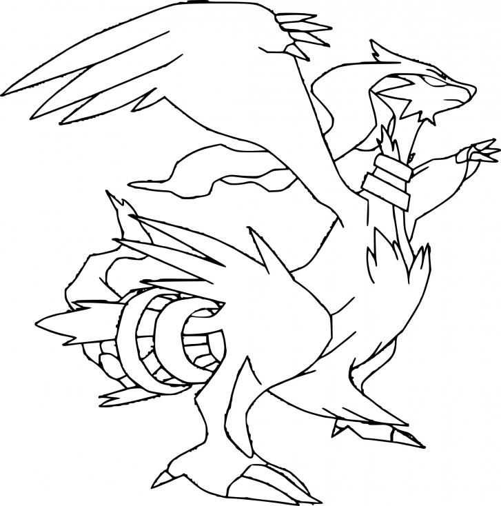 Coloriage Reshiram Pokemon À Imprimer Sur Coloriages concernant Dessin Pokemon Reshiram