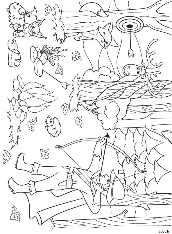 Coloriage Robin Des Bois - Tidou.fr avec Coloriage Robin Des Bois
