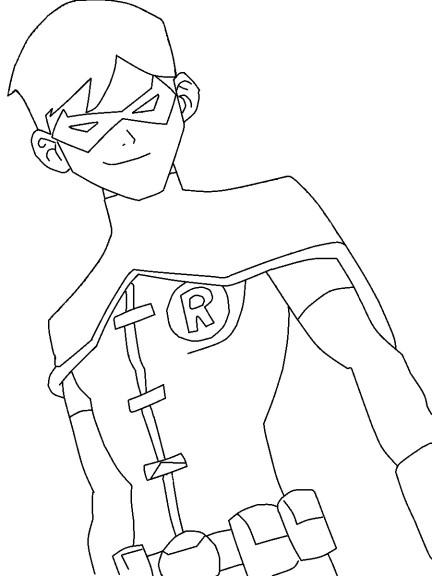 Coloriage Robin Super-Héros À Imprimer avec Dessin ? Colorier Ciborg