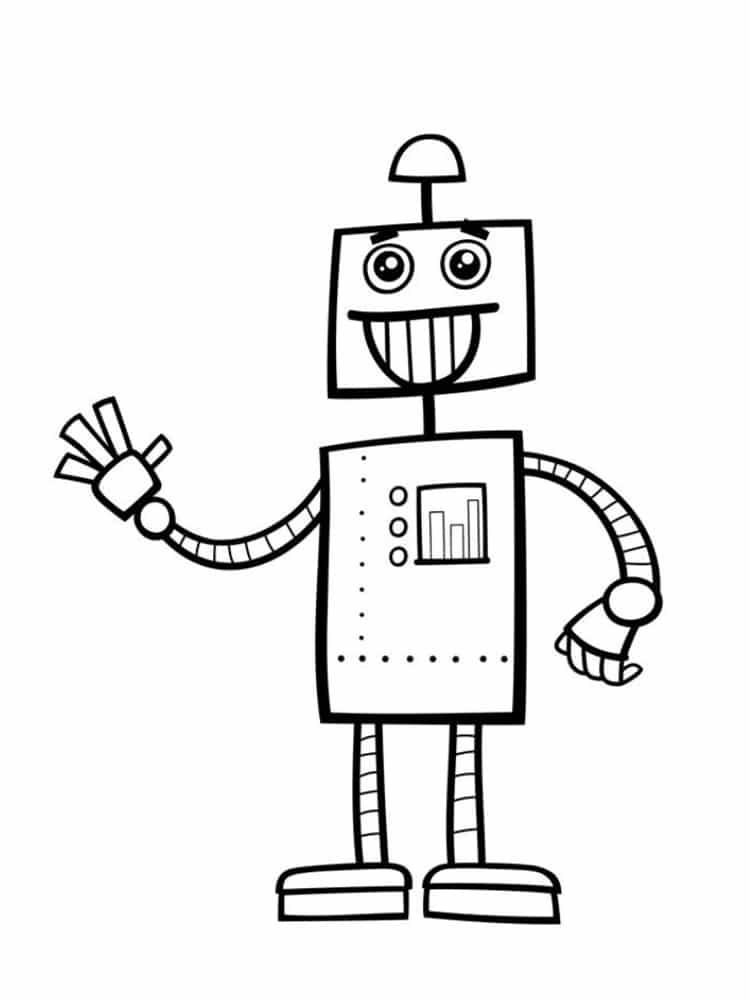 Coloriage Robot : 30 Dessins À Imprimer Gratuitement tout Dessin Robot À Imprimer