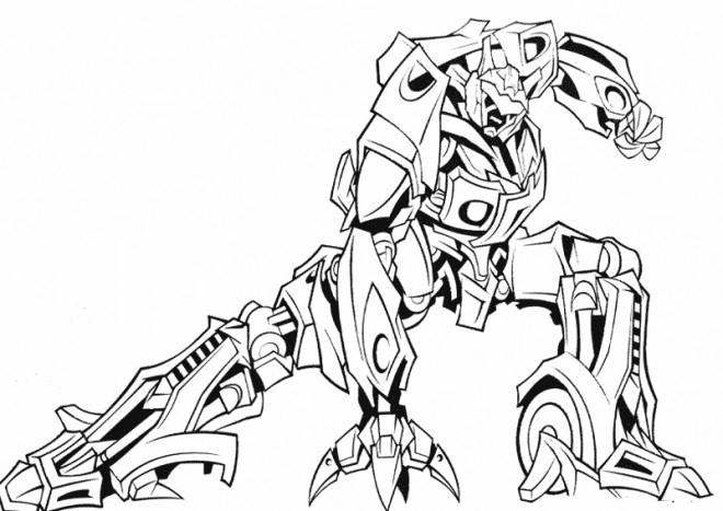 Coloriage Robot De Guerre Magnifique Dessin Gratuit À Imprimer à Dessins De Coloriage Transformers Imprimer