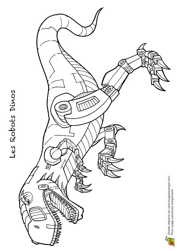 Coloriage Robot Dino 09 Sur Hugolescargot dedans Hugolescargot Coloriage