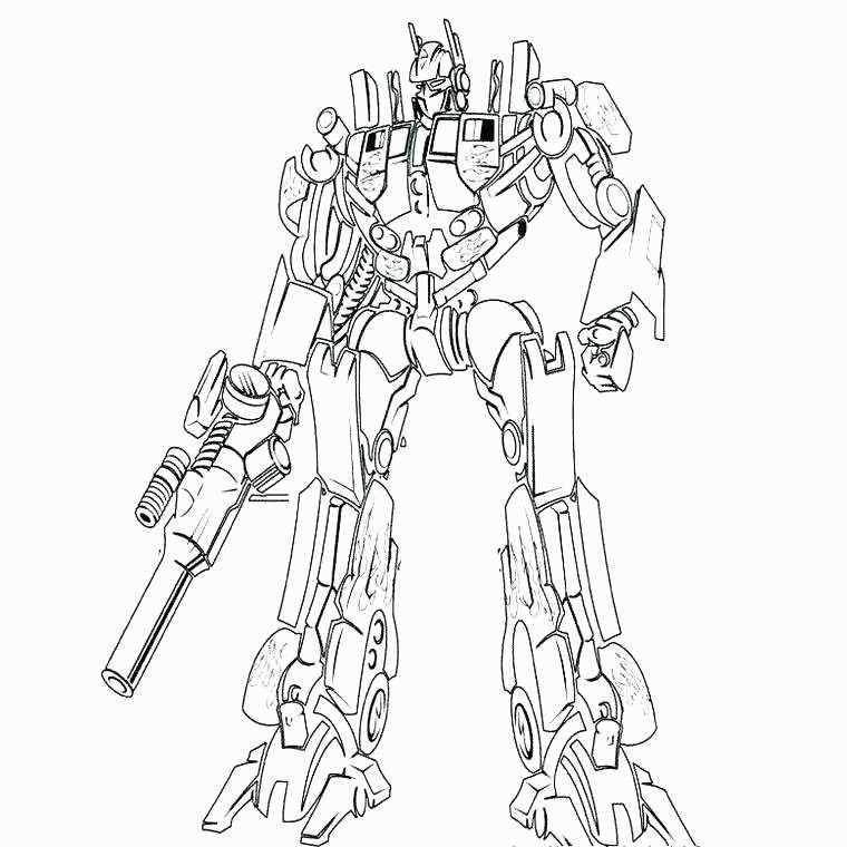 Coloriage Robot Transformers Imprimer Inspiré Coloriages avec Dessin De Transformers