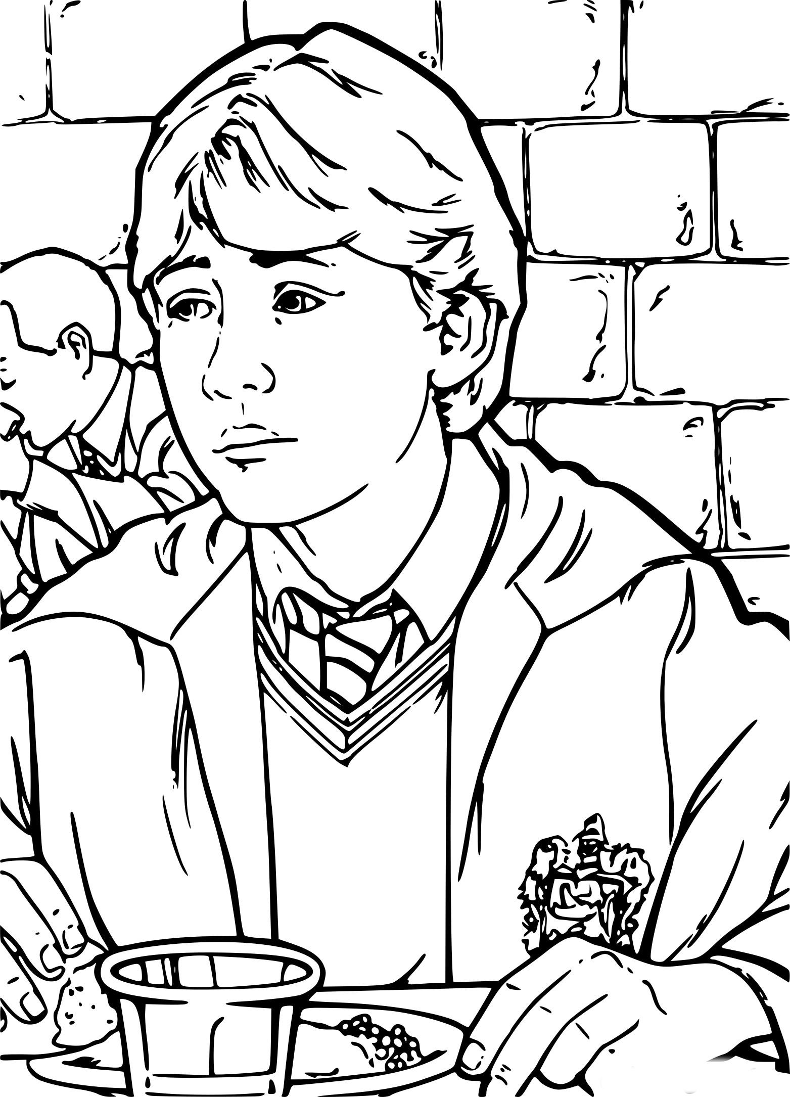 Coloriage Ron Weasley À Imprimer Sur Coloriages encequiconcerne Coloriage Harry Potter