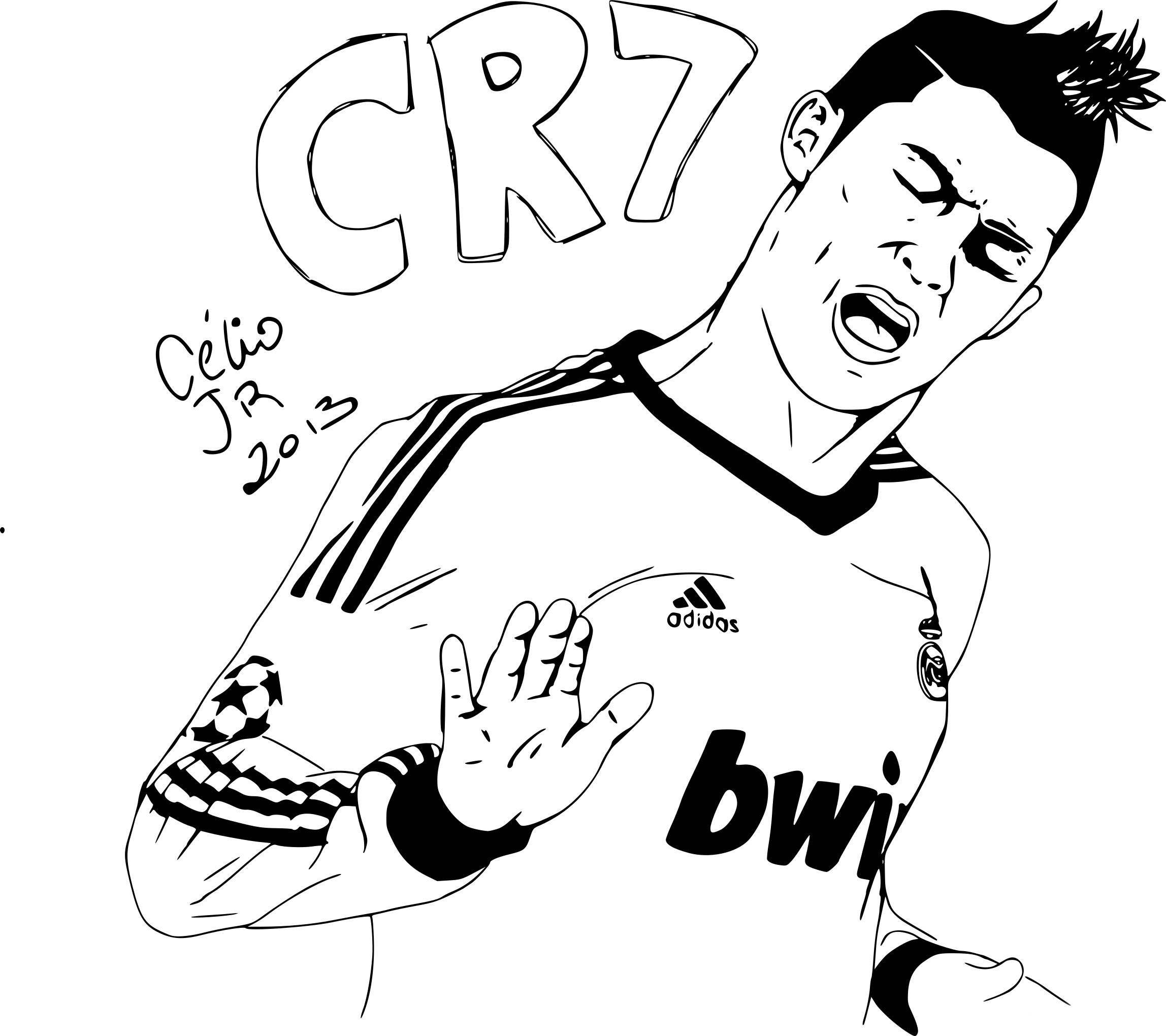 Coloriage Ronaldo À Imprimer Sur Coloriages tout Dessins Acolorier